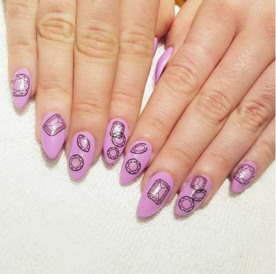 This eye-catching manicure will lift your nail game any day