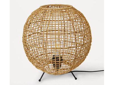 Round Rattan Table Lamp — Kmart