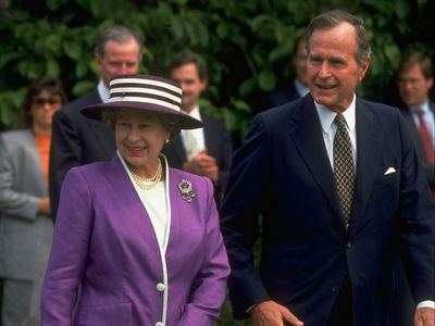 The Queen with George H W Bush, 1991