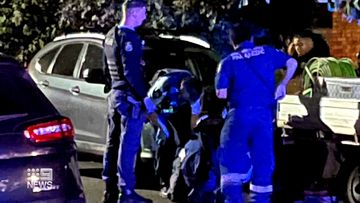 Police on the scene of a stabbing attack in Sydney's eastern suburbs.