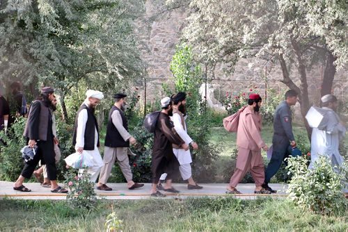 Taliban prisoners are released from Pul-e-Charkhi jail in Kabul, Afghanistan
