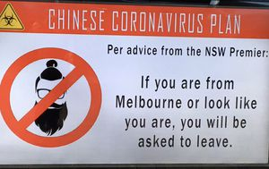 Hotel in Sydney's eastern suburbs called out for racist coronavirus signs