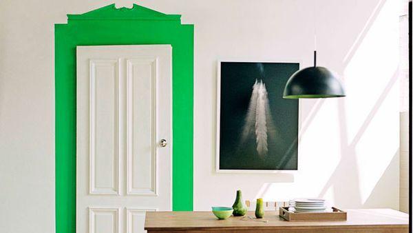 Decorative doorframe