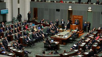 Photo of parliament during the 2018 leadership spill to take Malcolm Turnbull's position
