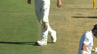 Australian bowler Pat Cummins denies deliberately standing on cricket ball in third Test against South Africa