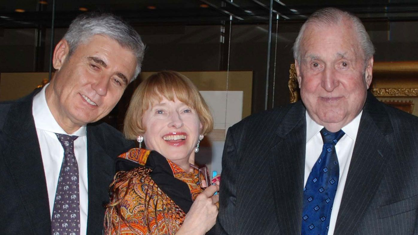 Bill Waterhouse (right) with son Robbie and daughter-in-law Gai.