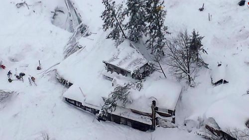 Victims of the avalanche reportedly sent text messages calling for help. (AFP)