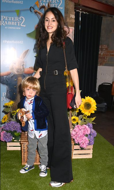 """Melanie Hamrick and Dev Jagger attend the """"Peter Rabbit 2"""" UK Gala Screening at Picturehouse Central on May 23, 2021 in London, England."""
