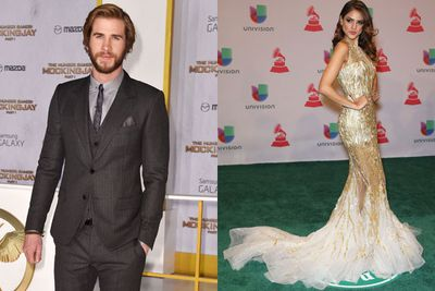 Liam Hemsworth and singer Eiza Gonzalez were spotted in a hot pash session the day after the end of his engagement to Miley Cyrus.