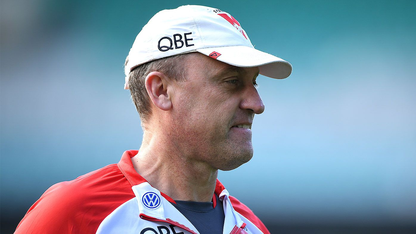 Sydney Swans coach John Longmire backing drop-in pitch at SCG after weekend controversy