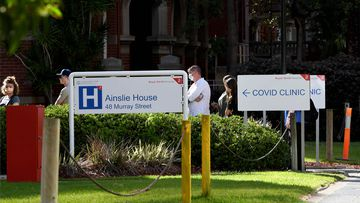 Patients have started to line up outeside the newly opened COVID-19 fever clinic at Royal Perth hospital.