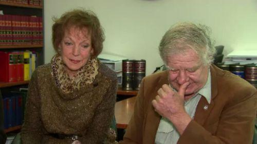 Farmers James Holdsworth and Heather Ellison. (9NEWS)