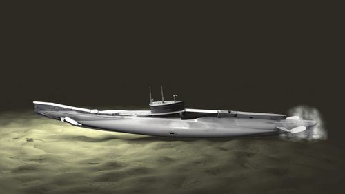 Computer modelling used over 8000 images to create a 3D recreation of how the HMAS AE1 sank to the ocean floor.