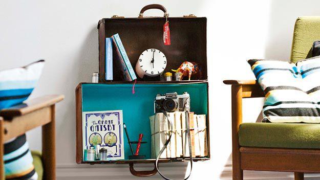 Suitcase shelves