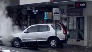 A car has crashed into a shop in Eastwood in Sydney's north-west.