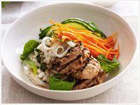 Lemongrass pork with rice noodles