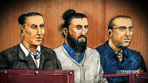 The trio of men faced court earlier this year.