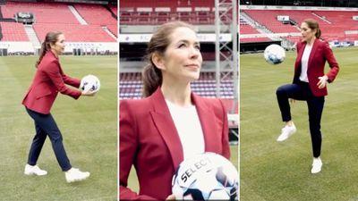 Princess Mary launches 'Fantastic Football Parties' program, June 2021