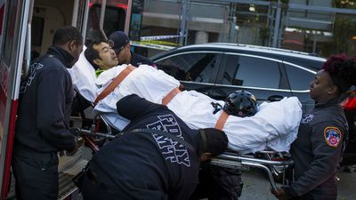 Eleven people, including two children, were also injured during the terrorist attack. (AP)