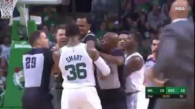 NBA: Milwaukee Bucks' Australian guard Matthew Dellavedova involved in fight with Marcus Smart