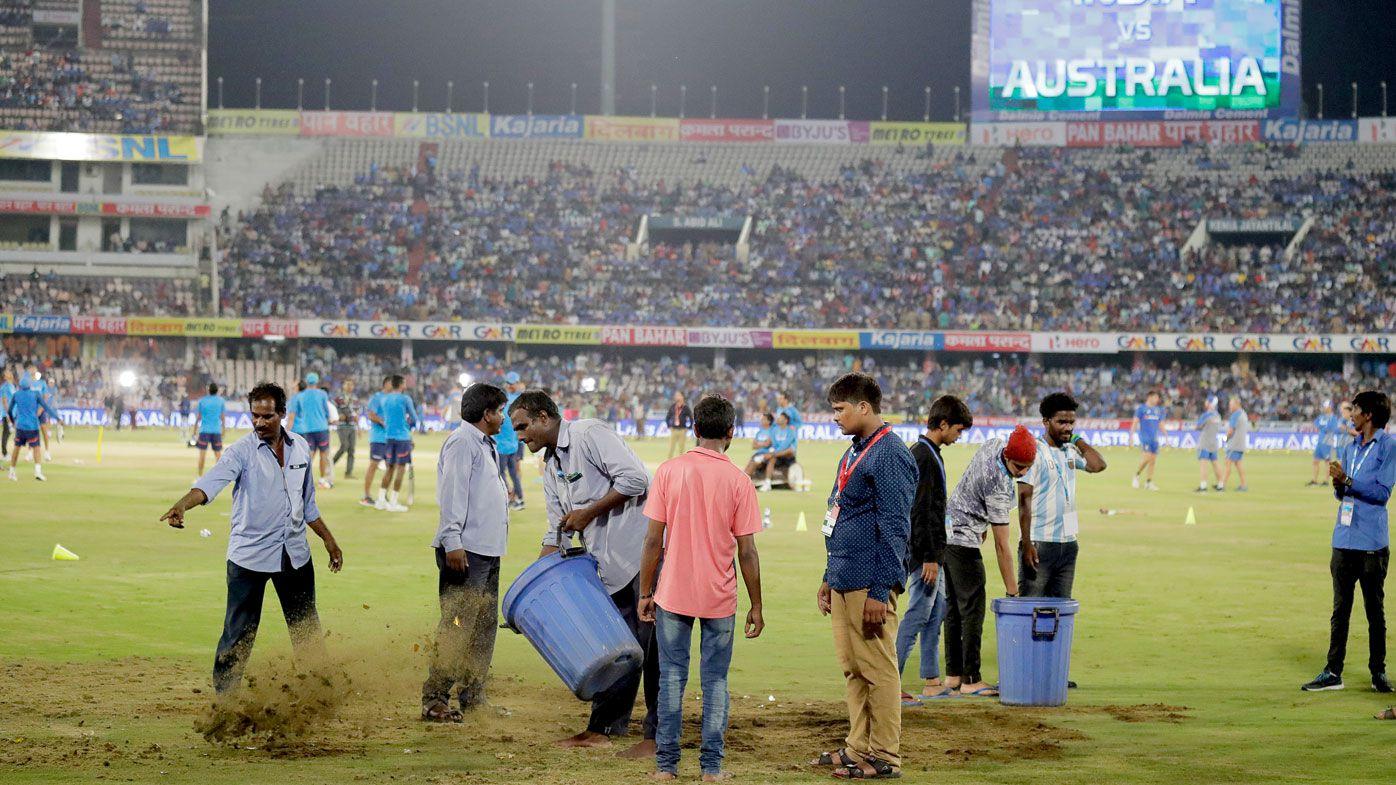Australia-India T20 abandoned in Hyderabad