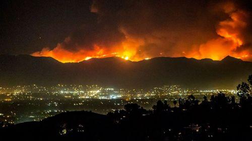 Man found dead as fierce fire scorches southern California
