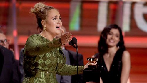 Adele sweeps Grammys, taking out Song, Record and Album of the year