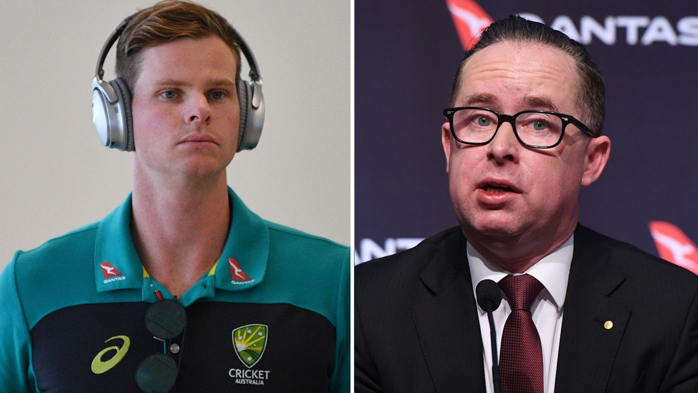 Steve Smith and Alan Joyce