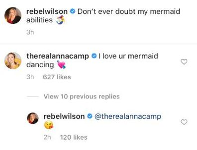 Rebel Wilson, weight loss, underwater, photo shoot, Instagram, Anna Camp comment