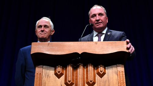 Malcolm Turnbull is being urged to ask for Barnaby Joyce's resignation. (AAP)