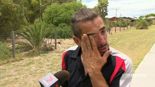 Bully was inside the hot car for nearly two hours while his owner was on his way to organize accommodation. (9NEWS)