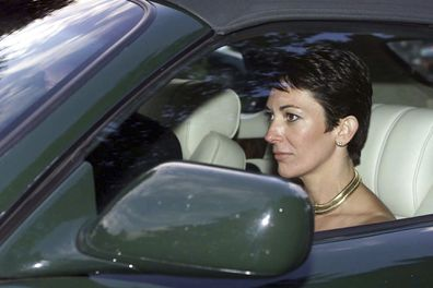 Ghislaine Maxwell being driven by Prince Andrew after attending a wedding of a mutural friend.