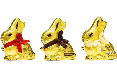 Lindt milk chocolate bunny: 63 minutes on a rowing machine