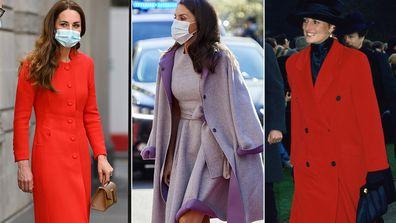 Royals wearing coats