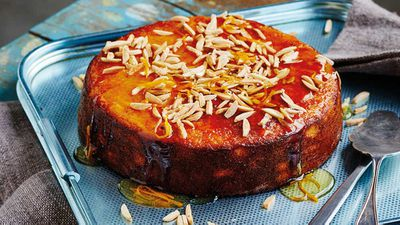 "Recipe: <a href=""https://kitchen.nine.com.au/2017/11/03/14/44/flourless-orange-cake"" target=""_top"">Flourless orange cake</a>"