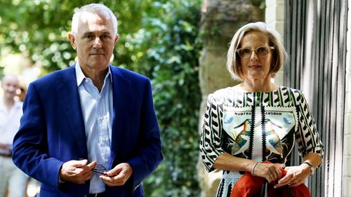 Malcolm and Lucy Turnbull. (AAP)