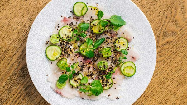 Song Kitchen's kingfish ceviche dish