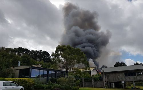 A fire has ravaged popular Mornington winery Ten Minutes By Tractor. (Facebook / Grahame Tiplady)