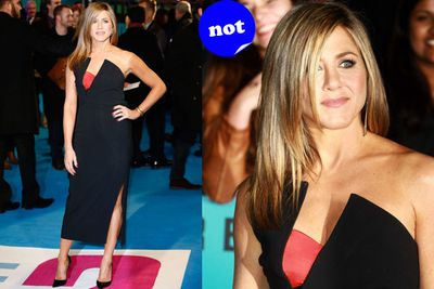 With all the stylists banging down her door, we were just a bit let down by Jen's red carpet attire for the premiere of <i>Horrible Bosses 2</i>.