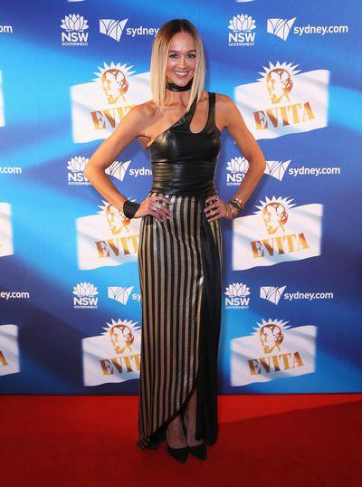 <em>Home and Away</em> star Sharni Vinson at the premiere of Evita, Sydney Opera House