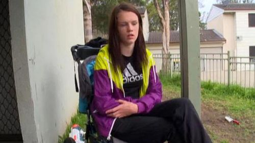 Bailee, a 16-year-old who claimed she was homeless and had been sexually assaulted. (Supplied)