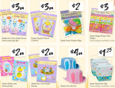 Easter arts and crafts make for great gifts for kids and will keep them busy after lunch.