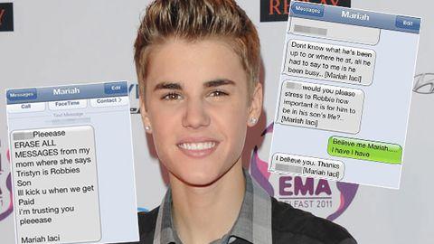 Justin Bieber text messages