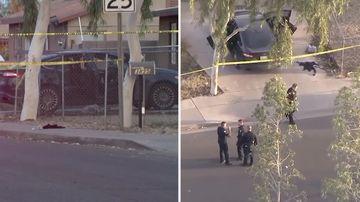 News USA Phoenix Arizona road rage fatal shooting girl 10 killed home driveway