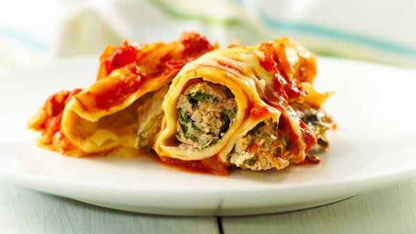 Italian pork and spinach cannelloni courtesy of Australian Pork