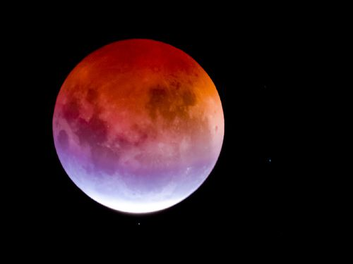 The event was the result of a supermoon combined with a lunar eclipse.