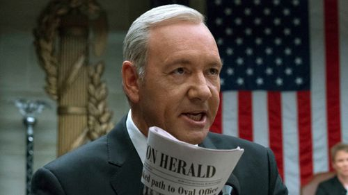 Kevin Spacey plays Frank Underwood in House of Cards. (AAP)