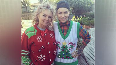 Ruby Rose proudly showed off her Christmas sweater. (Instagram)