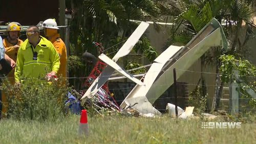 """""""I got a phone call to say 'you might want to come home - there's a plane in your house',"""" home-owner Terry Adams said. (9News)"""