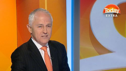 Malcolm Turnbull on Today Extra. (9NEWS)